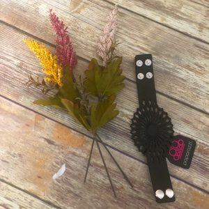 Black snap bracelet